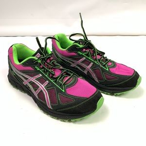 ASICS Gel Scram Running Shoes Pink Green Size 11